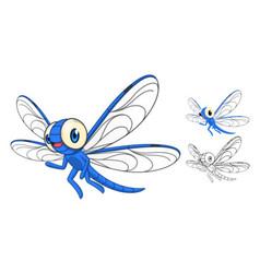 Dragonfly Cartoon Character vector image vector image