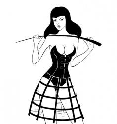 fetish whip vector image