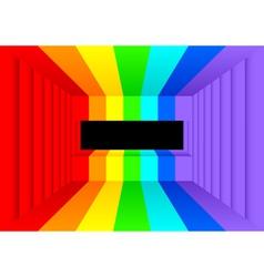 rainbow room vector image vector image