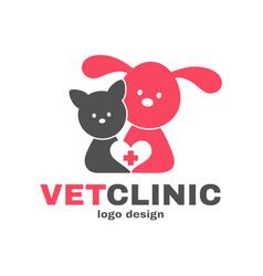 vetclinic logo design templete vet clinic vector image