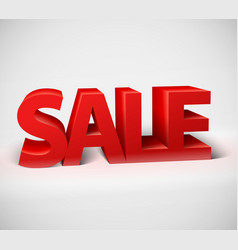 3d red text SALE vector image