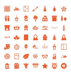 49 decorative icons vector image