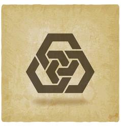 abstract interlocking hexagons vintage background vector image