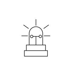alarm siren icon vector image