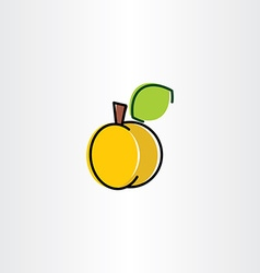 apricot icon design element vector image