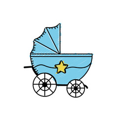 baby strolle that used to transportation vector image