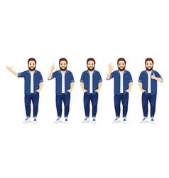 big man in casual clothes set vector image