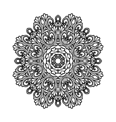 Black and white decorative ornament vector