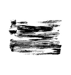 Black grunge banner from brushstrokes vector