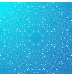 Blue graphic background molecule and communication vector image
