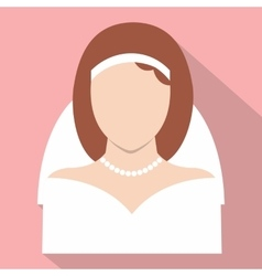 Bride flat icon vector