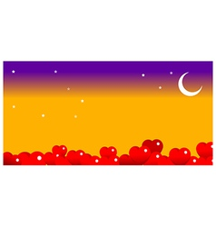 bright moon in the night sky vector image