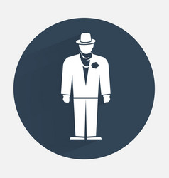 Businessman icon Mafia gangster silhouette symbol vector
