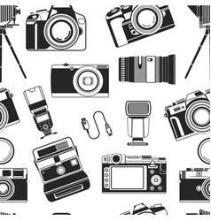 camera photograph portable old style apparatus vector image