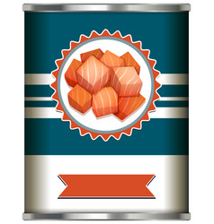 Canned food design template on white background vector