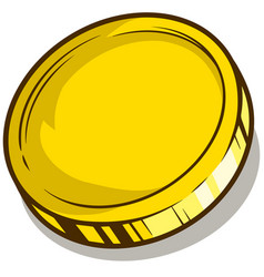 cartoon gold empty coin icon vector image