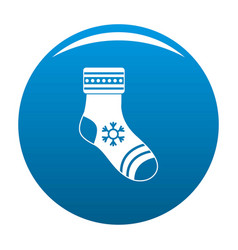christmas sock icon blue vector image