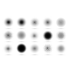 Circle halftone abstract dotted circles round vector