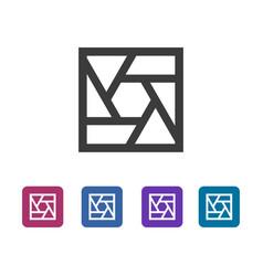 Common square shutter icon vector