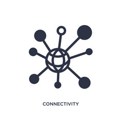 Connectivity icon on white background simple vector