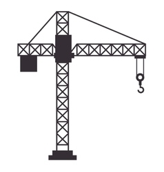 Crane conatruction isolated icon vector