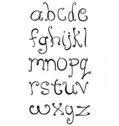 Decorative small letters vector