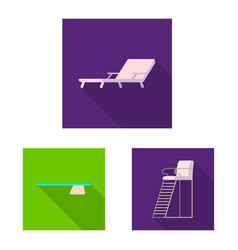 design of pool and swimming symbol vector image