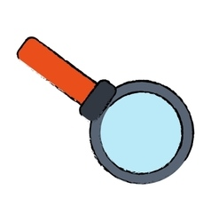 drawing search loupe magnifier tehcnology vector image