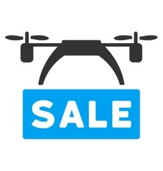 Drone Sale Banner Icon vector