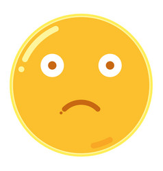 emoji of frown face in flat design icon vector image