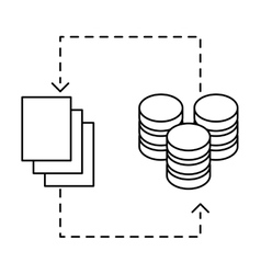 Figure distributed database icon image design vector