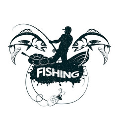 Fishing concept silhouette vector
