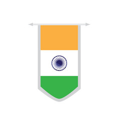 flag of india on a banner vector image