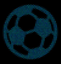 Football ball collage icon of halftone spheres vector