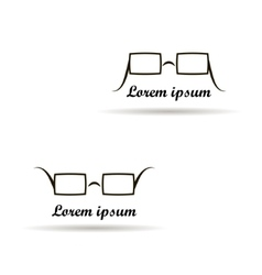 glasses logo design on a white background vector image