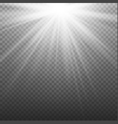 glow light effect beam rays sunlight vector image