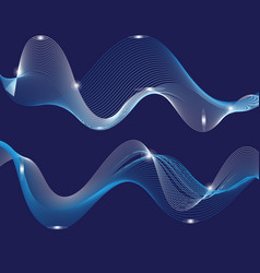 Graphic abstract light waves vector