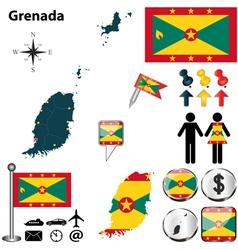 Grenada map vector