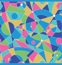 grid seamless pattern with random geometric vector image