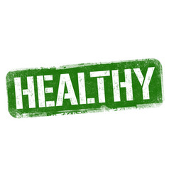 healthy sign or stamp vector image
