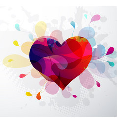 heart shape abstract for valentines day vector image