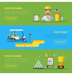 Horizontal Golf Banners vector image