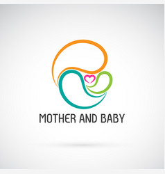 Icon of mother and baby design expression of love vector