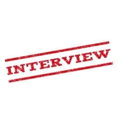 Interview Watermark Stamp vector image