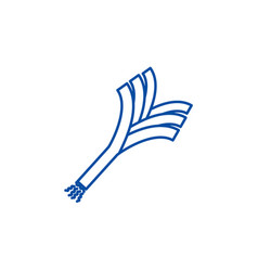 leek line icon concept leek flat symbol vector image