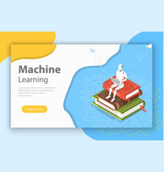 Machine learning isometric flat conceptual vector