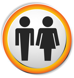 Male female pictrogram icon restroom sign unisex vector