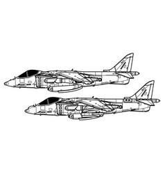 mcdonnell douglas av-8b harrier ii vector image