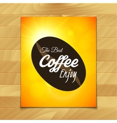 Menu template for restaurant the best coffee enjoy vector