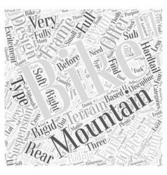 Mountain bike designs word cloud concept vector